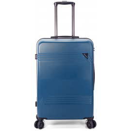 Troler Mediu ABS 4 Roti Duble Benzi BZ 5557 - 67 cm Albastru