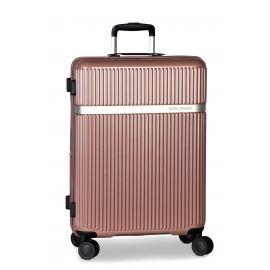 Troler Mare, Worldpack Orlando, Extensibil, ABS/Policarbonat, 4 Roti Duble, F10384 - 78 cm, Rose
