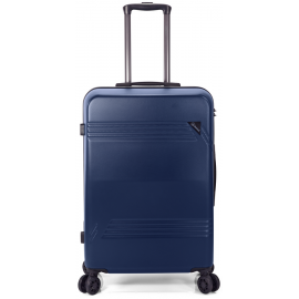 Troler Mediu ABS 4 Roti Duble Benzi BZ 5557 - 67 cm Bleumarin