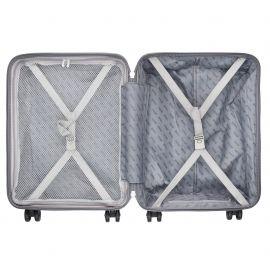 Troler Cabina Polipropilena 4 Roti Duble Cifru TSA TravelZ Vertical 601924 - 55 cm Albastru