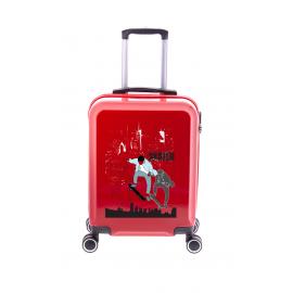 Troler Cabina, Policarbonat, 4 Roti Duble, Gladiator, Art, MG 7910 - 55 cm, Rosu
