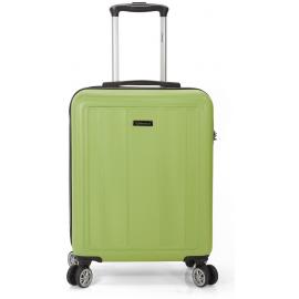 Troler Mediu, ABS, 4 Roti Duble, Cifru, Benzi, BZ 5491 - 65 cm, Verde