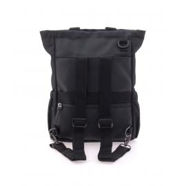 Rucsac, tip geanta, din material reciclat, Vogart, EBORN, MV 24221, Negru