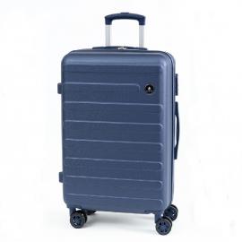 Troler Mediu, Diamond, 4 Roti Duble, ABS, DM007 - 65 cm, Albastru