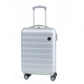 Troler Mediu, Diamond, 4 Roti Duble, ABS, DM007 - 65 cm, Argintiu