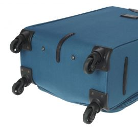 Troler Cabina, Poliester, 4 Roti, Diplomat, ZC 984 - 55 cm Bleumarin