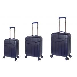 Set Trolere, Stelxis, ABS, 4 Roti Duble, Cifru TSA, ST 530 - 3 Piese, Bleumarin