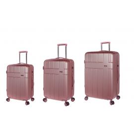 Set Trolere, Stelxis, ABS, 4 Roti Duble, Cifru TSA, ST 530 - 3 Piese, Rose