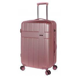 Troler Mediu, Extensibil, Stelxis, ABS, 4 Roti Duble, Cifru TSA, ST 530 - 65 cm, Rose