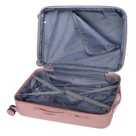 Troler Mare, Extensibil, Stelxis, ABS, 4 Roti Duble, Cifru TSA, ST 530 - 76 cm, Rose
