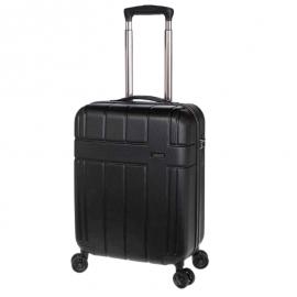 Troler Mediu, Extensibil, Stelxis, ABS, 4 Roti Duble, Cifru TSA, ST 530 - 65 cm, Negru