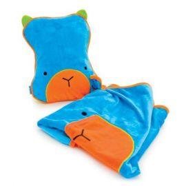 Paturica+perna copii  pentru calatorie Trunki SnooziHedz Blue