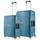 Set Trolere Polipropilena inchidere cu clapeta CarryOn STEWARD 2 Piese M+L Albastru