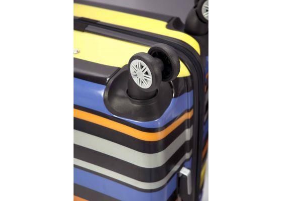 Troler Cabina ABS 4 Roti Duble Benzi BZ 4831 - 52 cm Mov
