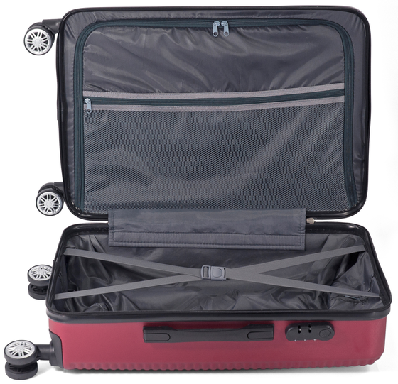 Troler Mare ABS 4 Roti Benzi BZ 5418 - 75 cm Gri