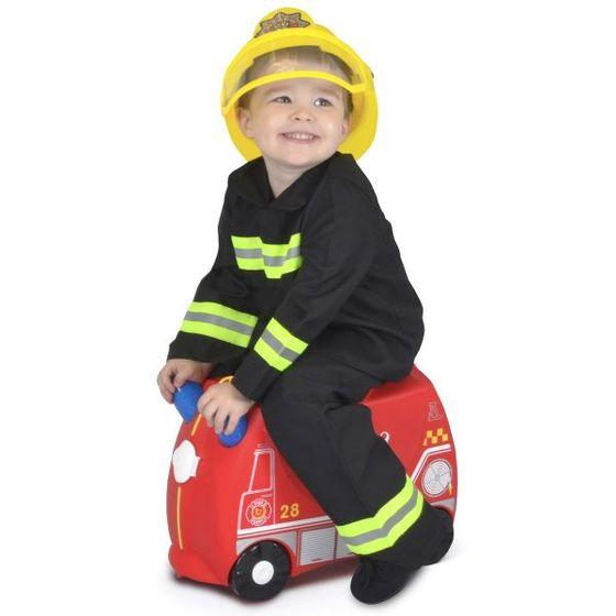 Troler copii Trunki Frank Masina de pompieri - 46 cm