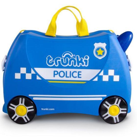 Troler copii Trunki PERCY Masina de politie - 46 cm