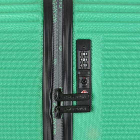 Set Trolere ABS/PC, Cifru TSA, CarryOn CONNECT, 2 Piese, Verde