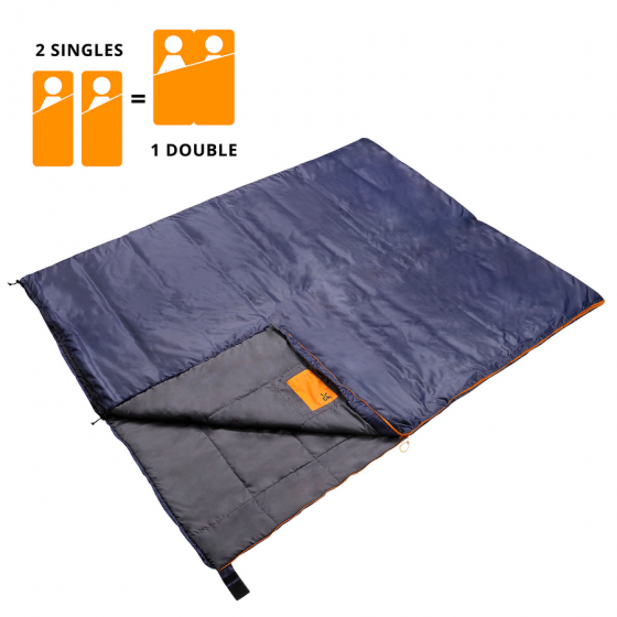 Sac de dormit Dutch Mountains Beveland 101242 Bleumarin 200 x 80 cm