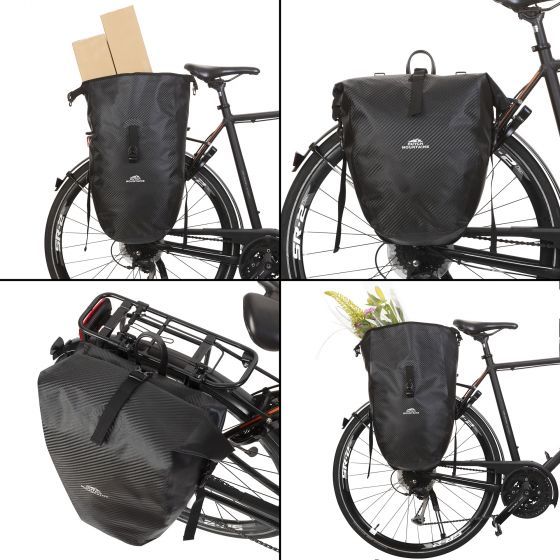 Geanta Bicicleta Material Tarpaulin Dutch Mountains Carbon 604382