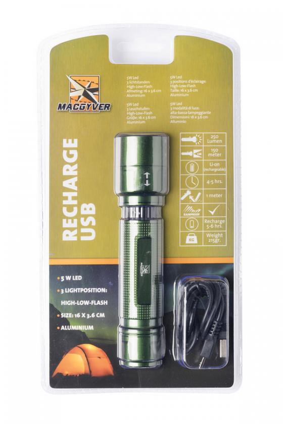 Lanterna MacGyver Recharge 5W CREE LED - 250 lumeni - 102250